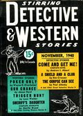 Stirring Detective and Western Stories (1940-1941 Albing) Pulp Vol. 1 #1