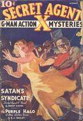 Secret Agent X (1934-1939 Periodical House) Pulp Aug 1937
