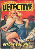 Private Detective Stories (1937-1950 Trojan Publishing) Pulp Vol. 9 #2