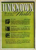 Unknown Worlds (1941-1943 Street and Smith) Pulp Oct 1941