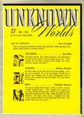 Unknown Worlds (1941-1943 Street and Smith) Pulp Dec 1941