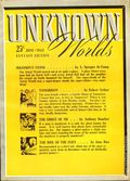 Unknown Worlds (1941-1943 Street and Smith) Pulp Jun 1942