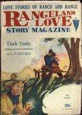 Rangeland Love Story Magazine (1929-1930 Clayton) Pulp Vol. 9 #1