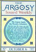 Argosy Part 2: Argosy (1894-1920 Munsey Publications) Vol. 87 #1