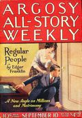Argosy Part 3: Argosy All-Story Weekly (1920-1929 Munsey/William T. Dewart) Sep 10 1921