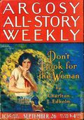 Argosy Part 3: Argosy All-Story Weekly (1920-1929 Munsey/William T. Dewart) Sep 26 1925