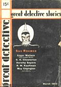 Great Detective (1933-1934 L.M. Publishing) Pulp Vol. 1 #1