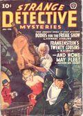 Strange Detective Mysteries (1937-1943 Popular Publications) Pulp Vol. 4 #3