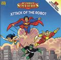 DC Comics Super Heroes Attack of the Robot SC (1996 Golden Books) 1-1ST