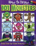 How to Draw 101 Monsters SC (2003 Top That) Easy Step-by-step Drawing 1-REP