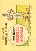 Finer Points of Baseball For Everyone: How to Use Baseball Signals (1958) 1961