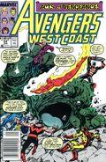 Avengers West Coast (1985) Mark Jewelers 54MJ