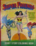 Super Friends Secret of the Frozen City (1979 Parkes Run) Giant Story Coloring Book 1979