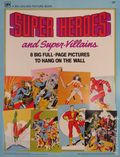 Super Heroes and Super-Villains (1979 Western) A Big Golden Picture Book 1979