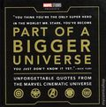 Part of a Bigger Universe: Unforgettable Quotes from the Marvel Cinematic Universe HC (2019 Marvel Press) 1-1ST