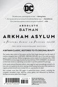 Absolute Batman Arkham Asylum HC (2019 DC) 30th Anniversary Edition 1-1ST