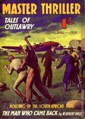 Master Thriller Series (1933-1939 World's Work) Pulp 24
