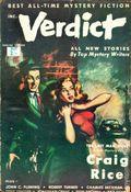 Verdict (1953 Flying Eagle Publications) UK Edition Vol. 1 #6