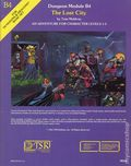 Dungeons and Dragons The Lost City SC (1982 TSR) Dungeon Module B4-REP