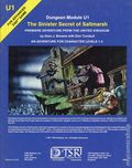 Dungeons and Dragons The Sinister Secret of Saltmarsh SC (1981 TSR) Dungeon Module U1-1ST