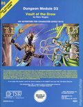 Dungeons and Dragons Vault of the Drow SC (1978 TSR) Dungeon Module D3-REP