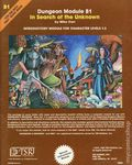 Dungeons and Dragons in Search of the Unknown SC (1979 TSR) Dungeon Module B1-REP