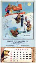 Lawson Wood Chimpanzees 1956 Calendar (1955 Brown & Bigelow) 1956