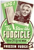 Advertising Sign Stars Like Fudgicle (1937 J. L. Corp) F734C