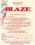 Blaze Movie Premiere Reservation Form (1989) 0