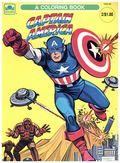 Captain America Coloring Book SC (1966 Whitman) 1924