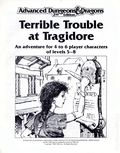 Advanced Dungeons and Dragons Terrible Trouble at Tragidore (1989 TSR) Module 0