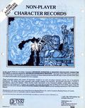 Advanced Dungeons and Dragons Non-Player Character Records (1981 TSR) Gaming Modules 0