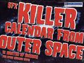 SFX Calendar 2005 Killer Calendar from Outer Space (2004 Future Publishing) 2005