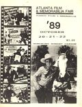 Atlanta Film and Memorabilia Fair (1984) Program Book Oct 1989