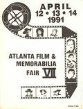 Atlanta Film and Memorabilia Fair (1984) Program Book APRIL 1991