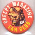 Creepy Magazine Fan Club Button (1968) 1968