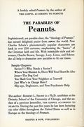 Parables of Peanuts SC (1968 Harper and Row) 1-1ST