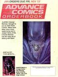 Advance Comics Orderbook (1989 Capital City Distribution) Nov 1992