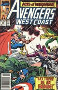 Avengers West Coast (1985) Mark Jewelers 55MJ