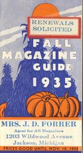 Fall Magazine Guide Promotional Booklet (1935 publisher not known) 1935