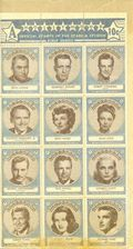 Hollywood Official Stamps of the Stars and Studios (1947) A