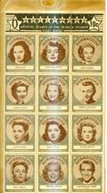 Hollywood Official Stamps of the Stars and Studios (1947) O