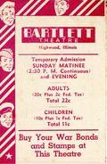 Bartlett Theatre Program (1942 Bartlett Theatre) Sep 26 1942