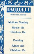 Bartlett Theatre Program (1942 Bartlett Theatre) May 18 1940