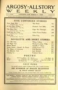 Argosy Part 3: Argosy All-Story Weekly (1920-1929 Munsey/William T. Dewart) Mar 7 1925