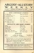 Argosy Part 3: Argosy All-Story Weekly (1920-1929 Munsey/William T. Dewart) Feb 21 1925