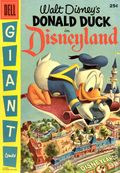 Dell Giant Donald Duck in Disneyland (1955 Dell) 1
