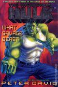 Incredible Hulk What Savage Beast HC (1995 A Marvel Novel) 1-1ST