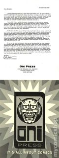 Oni Press Release (1997 Announcing New Company) 1997