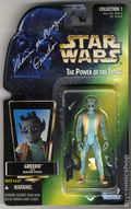 Star Wars Action Figure (1995-1997 Kenner) Signed Package GREEDO